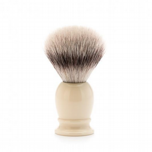 Shaving Brush Ivory Resin Handle
